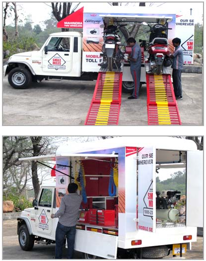 Mobile Service Van manufacturers for two wheelers in India
